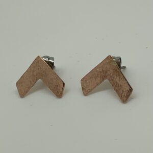 /Rose Gold Chevron Stud Earrings