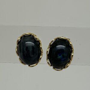 /Blue Labradorite Stud Earrings