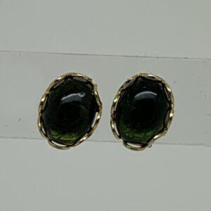 /Green Tourmaline Stud Earrings